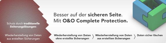 Besser auf der sicheren Seite. Mit O&O Complete Protection