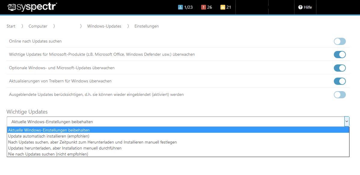 Die Einstellmöglichkeiten für Windows Update lassen sich nun auch auf Windows 10 übertragen